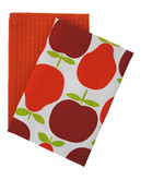 Jamie Oliver Set of 2 Tea Towels - Orange - 18 x 28 Inches