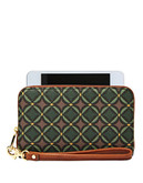 Fossil Sydney Zip Phone - Green Multi