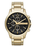 Armani Exchange Mens Gold Stainless Steel Watch - Gold