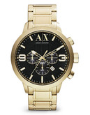 Armani Exchange Mens Street Oversized AX1357 - Gold