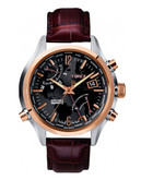 Timex Men's Intelligent Quartz World Time Watch - Maroon