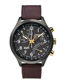 Timex Men's Intelligent Quartz Fly Back Chronograph Watch - Maroon