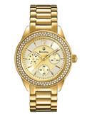 Bulova Ladies Crystal Watch - Gold