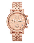 Fossil The Original Boyfriend Chronograph Watch - Rose Gold