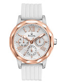 Bulova Rose Gold Sport Watch - White