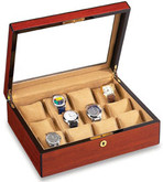 Vox Luxury Rosewood Finish 12 Display Watch Case