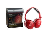 Able Planet Foldable Active Noise Cancelling Headphones with LINX AUDIO - Red