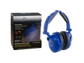 Able Planet Foldable Active Noise Cancelling Headphones with LINX AUDIO - Blue