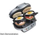 Hamilton Beach  25490  Silver  Dual Breakfast Sandwich Maker