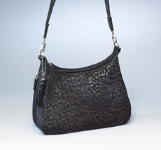 Debossed Leather  Hobo Concealed Carry Holster Handbag