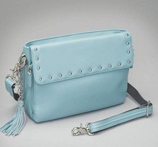 Blue Lambskin Concealed Carry Purse