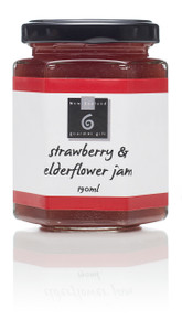 A divine taste of summer; juicy strawberries blend with the floral and fragrant notes of elderflower with a spike of ginger for a delicious jam.  Serve with pikelets and scones or on toast and in sandwiches. 195ml