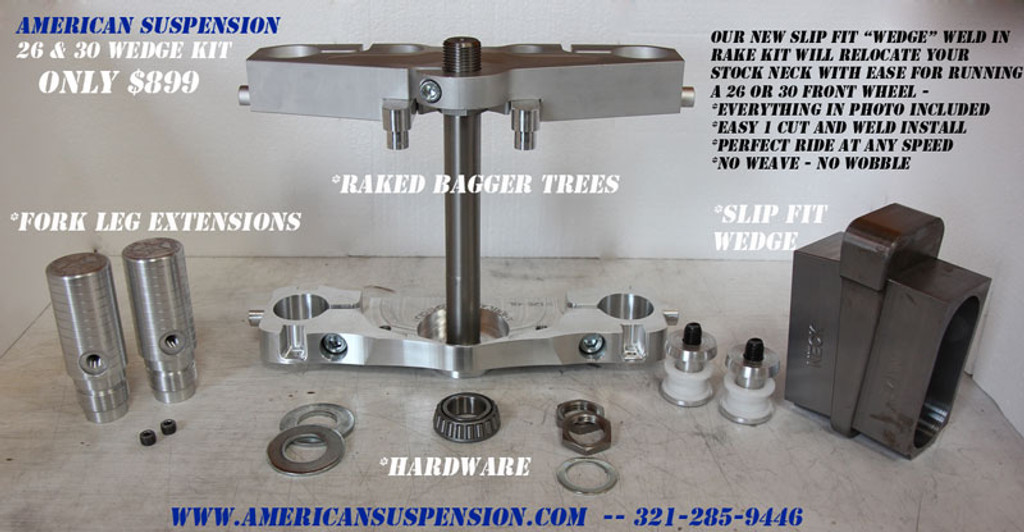 """26"""" Wheel Easy Weld In WEDGE Kit for 2014 to Current Harley-Davidson Touring"""