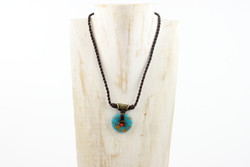 Turquoise pendant necklace handmade in Yunnan