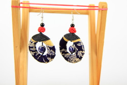 unique fabric earrings