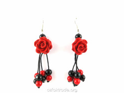 Fair trade rose earrings