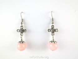 Fairtrade pink earrings