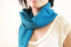 blue ethical women winter scarf