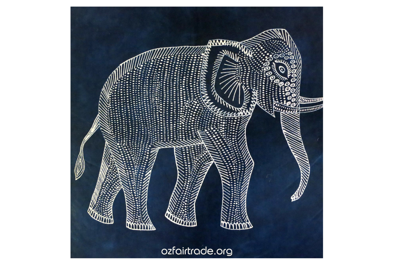 Elephant Floral Batik Art Design by Bluedarkat | GraphicRiver
