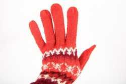 fair trade red gloves