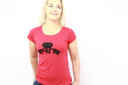 Super soft Cambodian red elephants t-shirt (fitted)
