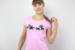 pink ethical women tshirt