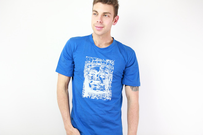 ethical blue men t-shirt