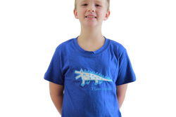 fair trade blue boy crocodile tshirt