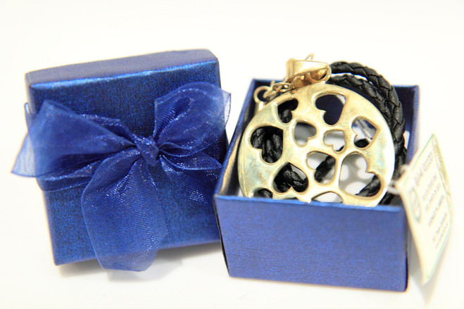 Fair trade recycled bombshell love heart necklace gift