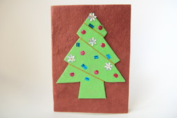 Christmas tree card ethical fairtrade