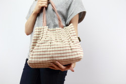 Lady's handwoven handbag (stripe)