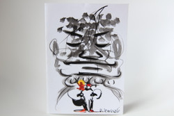 Hand painted watercolour gift card by disabled Cambodians (happy face)