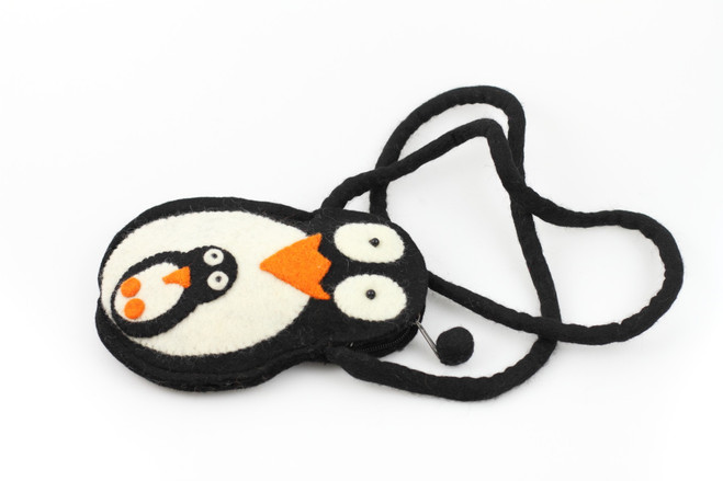 penguin kids wool bag