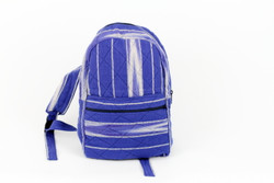 ethical blue backpack