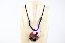 Playful necklace handmade in Yunnan