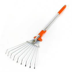 R1 Mini with tines open for work landscape rake, garden rake, lawn rake, adjustable rake