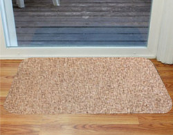 "Tan Microfiber Door Mat Regular 20""x30"""