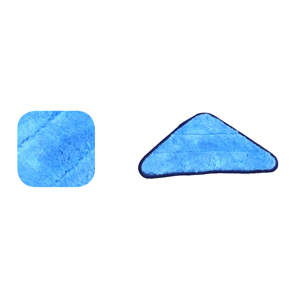 Microfiber Mop Pads Microfiber Triangle Blue Pad
