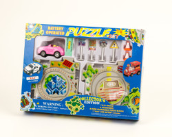 Puzzle Car, Pink Sports Car
