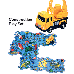 Construction puzzle cars