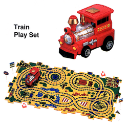 Red Train Puzzle Car