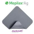 Mepilex Ag Foam Dressing Antimicrobial 4 X 4 Inch (Molnlycke #287100, Box of 5)