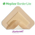 Mepilex Border Lite is a thin all-in-one foam dressing that effectively absorbs and retains wound fluid (exudate) but keeps the wound sufficiently moist. Mepilex Border Lite is a thinner version of Mepilex Border. The unique and patented Safetacadhesive makes sure that your dressing can be changed without damaging your wound or skin around it. This makes the dressing change as pain free as possible and also makes sure that the skin around your wound stays dry and healthy.