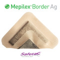 Mepilex Border Ag Antimicrobial Foam Dressing 4 X 4 Inch (5/BOX)
