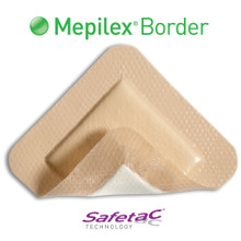 Mepilex Border is an all-in-one foam dressing that effectively absorbs and retains wound fluid (exudate) but keeps the wound sufficiently moist. The unique and patented Safetac® adhesive makes sure that your dressing can be changed without damaging the wound or skin around it. This makes the dressing change as pain free as possible and also makes sure that the skin around your wound stays dry and healthy.