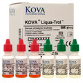 KOVA Liqua-Trol is a ready-to-use liquid control for complete quality control of physical and chemical examination of urine specimens. Liqua-Trol is available with or without microscopics. Liqua-Trol has 30-day room temperature stability. Values are assigned for visual and instrument reading on all major systems.