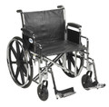 Bariatric Wheelchair Sentra EC Heavy Duty Padded Removable Desk Arm Mag Black 22 Inch 450 lbs. (1 EA) (Drive Medical STD22ECDDA-SF)