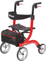 4 Wheel Rollator Nitro White Adjustable Height Aluminum (1 EA) (Drive Medical RTL10266WT)