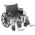 Bariatric Wheelchair Sentra EC Heavy Duty Padded Removable Desk Arm Mag Black 24 Inch 450 lbs. (1 EA) (Drive Medical STD24ECDDA-ELR)