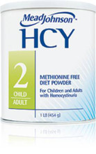 HCY 2 Homocystinuria Oral Supplement Unflavored 1 lb. Can Powder (Case of 6) (Mead Johnson 891901)